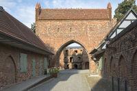 Das Friedländer Tor in Neubrandenburg, Ostdeutschland