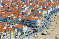 Birds-eye view of Portugal town