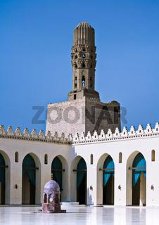 Minaret of Al Hakem Mosque, Cairo, Egypt
