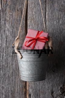 Christmas Present in Bucket