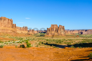 Three Gossips Sheep Rock and  Tower of Babel  in the Arch National Park