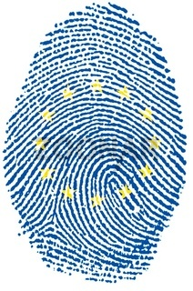 Europe flag Fingerprint