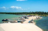 Lagoon Tatajuba from above in Brazil