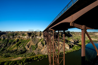 Snake River and Perrine Bridge near Twin Falls, Idaho