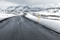 Iceland Winter landscape Road