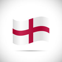 England Flag Illustration