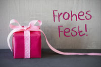 Pink Present, Frohes Fest Means Merry Christmas