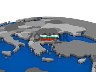Bulgaria on 3D globe