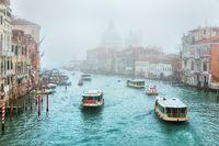 Foggy (misty) Venice. Canal (channel)