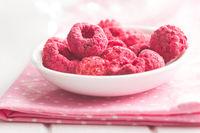 Freeze dried raspberries.