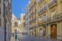 City Gate and Street, Valencia, Spain