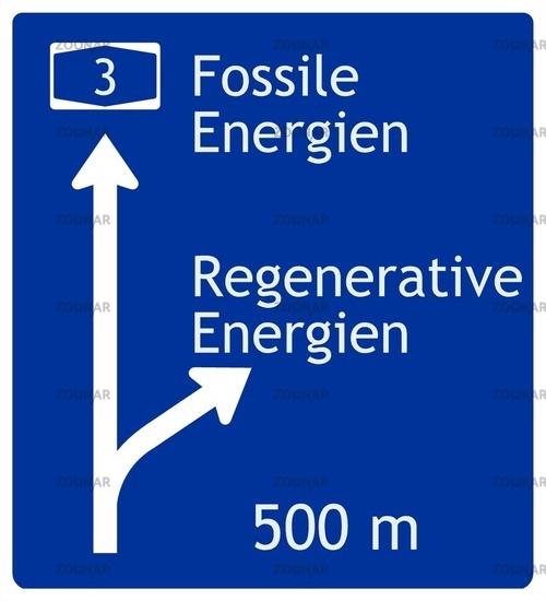 Fossile und regenerative energie