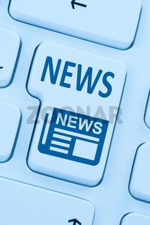 Online Zeitung Nachrichten News Computer blau web