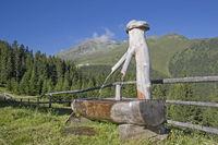 Almbrunnen in den Stubaier Alpen