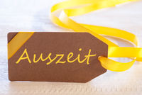Easter Label, Auszeit Means Downtime