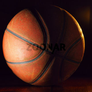 basketball ball in dark