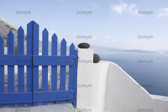 Gartentoor auf Santorin