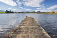 Bootsteg am See im Allgäu bei Füssen