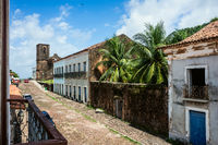 iconic views of Brazil: Matriz Church ruins in the historic city of Alcantara near Sao Luis, Maranhao State, Brazil