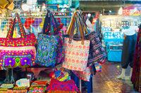 Thailand night market overview