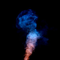 colored smoke in motion