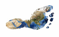 Foot print of Asia