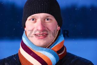 night winter portrait