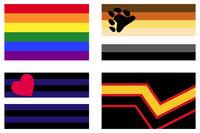 LGBT Gay Pride Fahnen und Banner