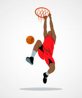 basketball player, ball