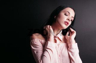 sensual young woman portrait