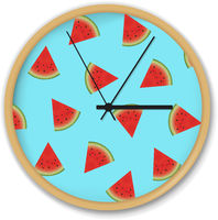 Clock With Watermelon Pattern
