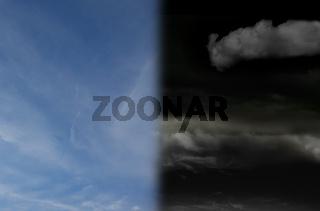 Split sky image