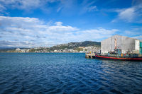 Wellington harbour docks, New Zealand