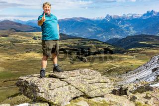 Hiking at Astjoch in South Tyrol