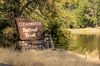 Clearwater National Forest Sign Department of Agriculture