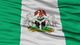 Closeup Nigeria City Flag, Nigeria