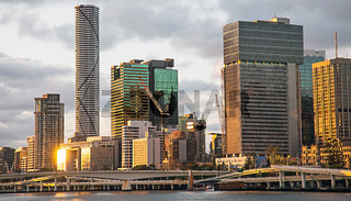 Skyline of Brisbane Queensland Australia