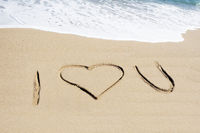 I love you im Sand