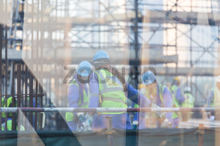 Team of construction worker on construction site.