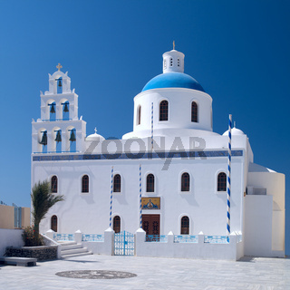 Greek orthodox church in Oia village on Santorini