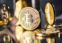 Münze der digitalen Währung Bitcoin