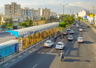 Tehran busy road, Iran