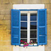 Maltese window decorated with flowers
