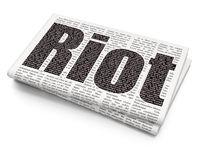 Politics concept: Riot on Newspaper background