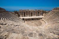 Roman amphitheatre in the ruins of Hierapolis