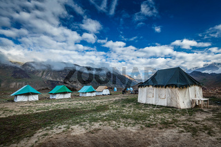 Tent camp in Himalayas