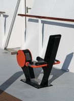 Outdoor exercise cycle on deck of ship