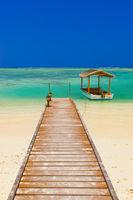Boat on Maldives island