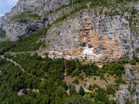 Aerial view on Ostrog Monastery church