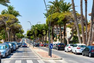 Street of Orihuela city